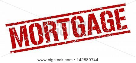 mortgage stamp. red grunge square isolated sign