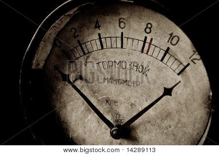 Old Rusty Brake Manometer