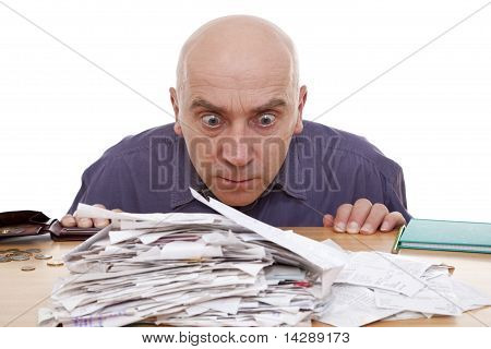 Man And Receipts