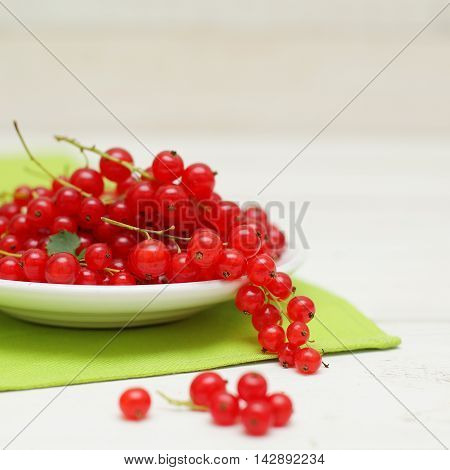 Berry - redcurrant organic food on background