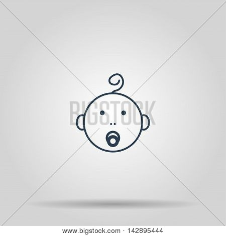 Baby icon. Vector concept illustration for design.