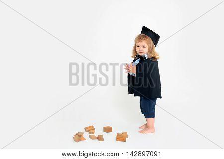 Cute Boy In Academic Mantle