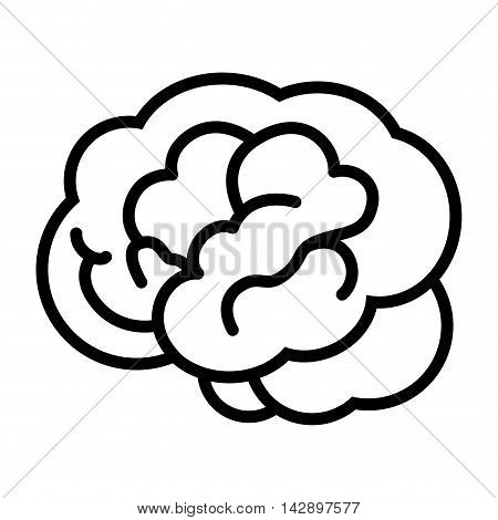 brain mind head intellectual think human organ mental vector  illustration isolated