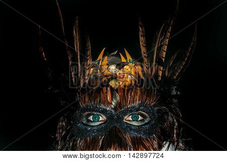 Male Face In Masquerade Mask