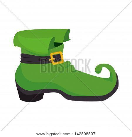 boot irish ireland green celebration lucky festive shoes st patrick vector illustration isolated