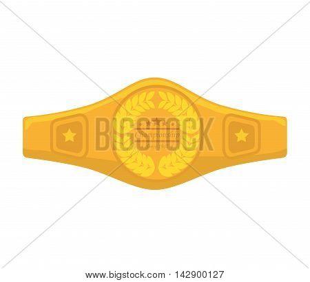 belt boxing sport championship winner fight award vector illustration isolated