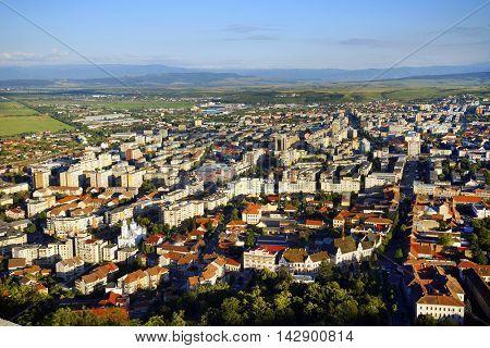 Deva city in Transylvania, Romania, Europe