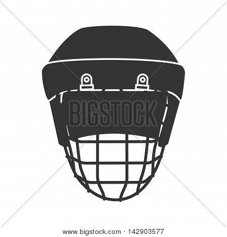 helmet hockey protection sport safety equipment head vector illustration isolated