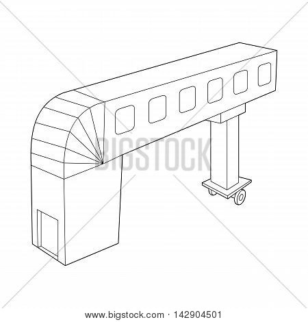 Telescopic ladder icon in outline style isolated on white background. Airport symbol