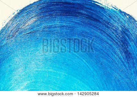 Blue textured acrylic background. Arc blue background