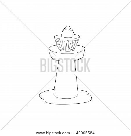 Control tower at airport icon in outline style isolated on white background. Airport symbol
