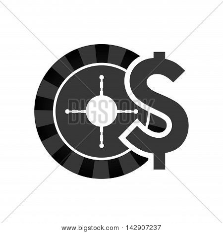 roulette casino vegas icon. Flat and Isolated design. Vector illustration