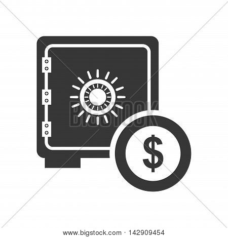 strongbox coin money financial commerce icon. Flat and Isolated design. Vector illustration