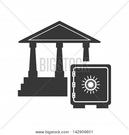 strongbox bank money financial commerce icon. Flat and Isolated design. Vector illustration