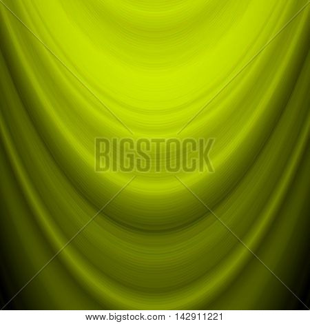 Abstract green mesh background with futuristic fabric, silk texture and ambient occlusion effect for design concepts, presentations, web and prints. Vector illustration.