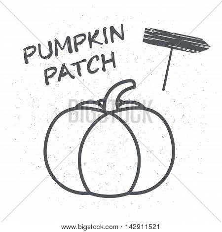 Emblem or a poster with pumpkin Vector illustrations