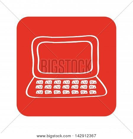 laptop computer portable icon vector isolated graphic