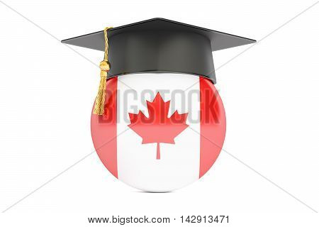 education and study in Canada concept 3D rendering isolated on white background