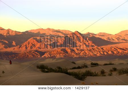 Sunset Over The Dunes At Death Valley