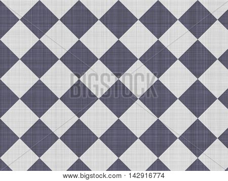 Large black and white squares diagonal, not rough rustic fabric.