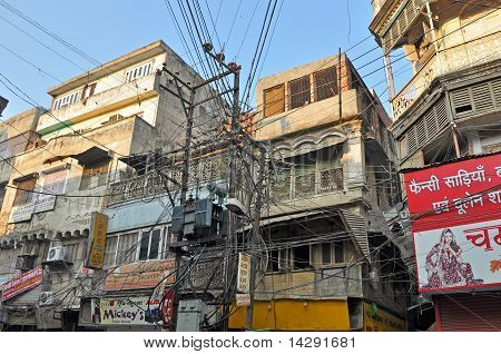 Electrical Wiring In Old Delhi, India
