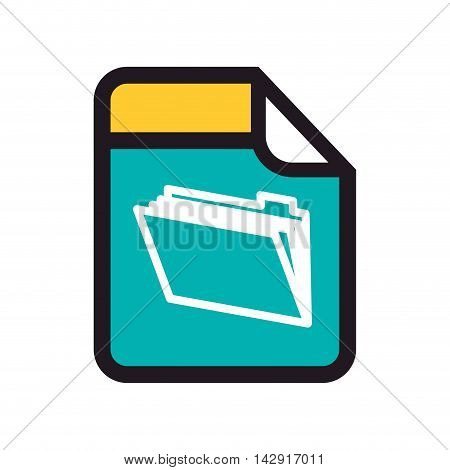format file archive file binder open type technology vector illustration isolated