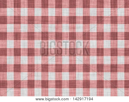Simple rural red fabric with a checkered pattern.