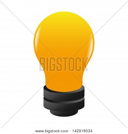 bulb bright electricity light invention yellow ecology power vector illustration isolated