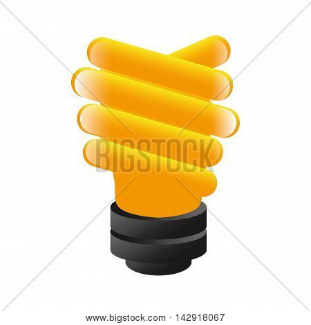 bright bulb economy efficient environment light energy vector illustration isolated