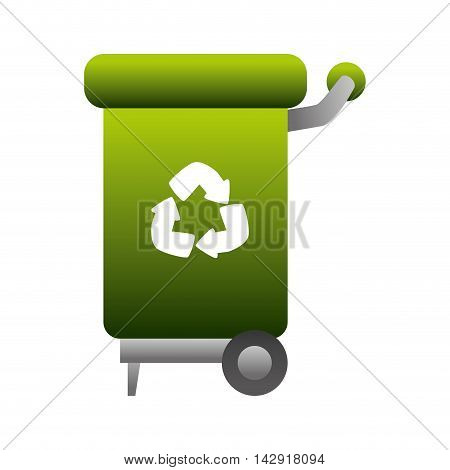 can trash recycling symbol go green recycled world global ecology vector illustration isolated