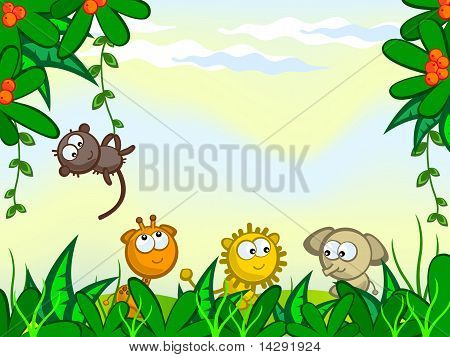 Comical-jungle-background