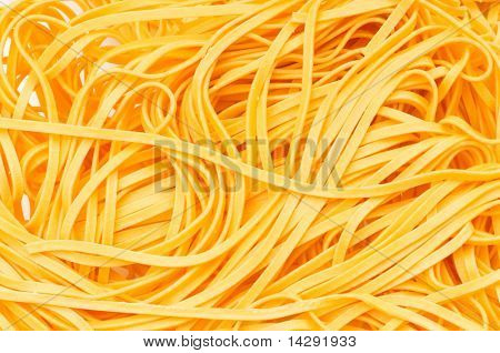 Extreme close up of the tangled spaghetti