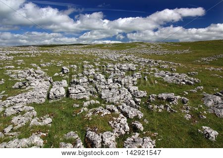 Limestone Karst scenery near Tebay services, Cumbria