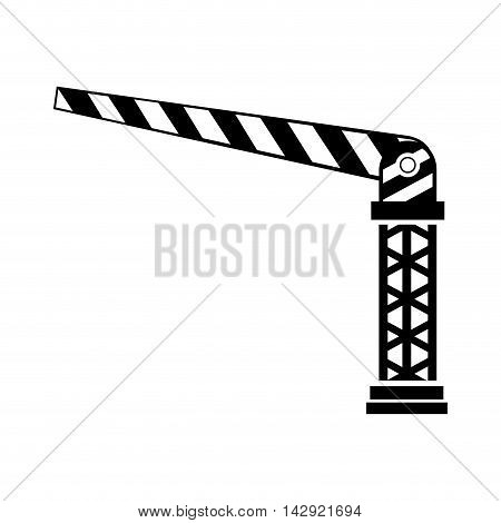car barrier parking auto automobile service barricade vector illustration isolated