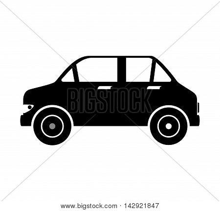 car automobile auto transport vehicle side  sedan vector  illustration isolated