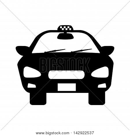 taxi cab car auto vehicle service delivery front vector illustration isolated