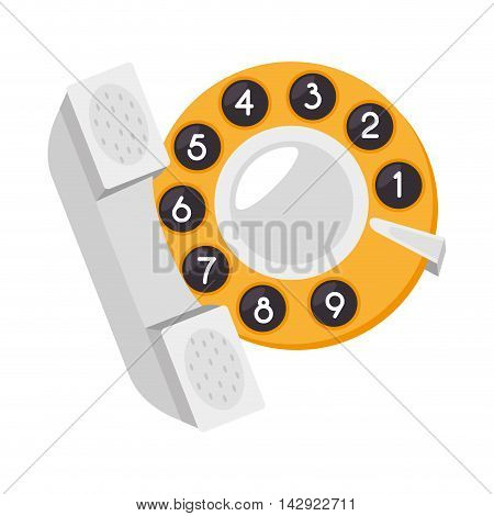 taxi cab telephone service vehicle car public vector illustration isolated