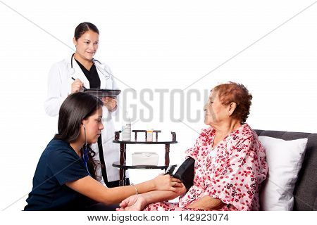 Nurse Measuring Blood Pressure