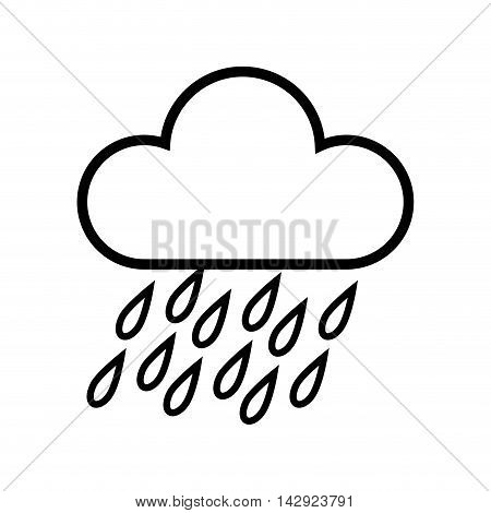 cloud rainy cloudy weather season meteorology vector illustration isolated
