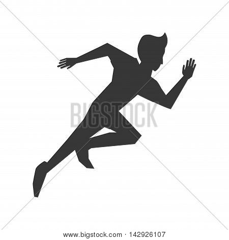 flat design running man icon vector illustration