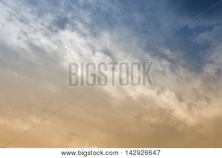 Blue sky and Cloud episode sunset beautiful nature for background