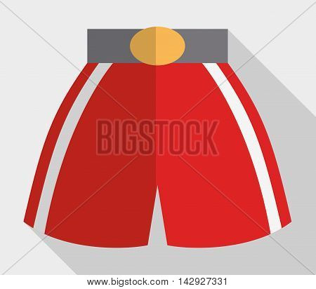 boxer short boxing sport training icon. Colorful and flat design. Vector illustration