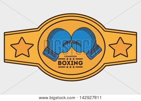 glove belt boxing sport training icon. Colorful and flat design. Vector illustration