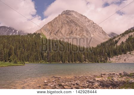 Summer Landscape of Gusty Peak with Chester Lake in the foreground.
