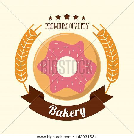 donut bakery food shop icon. Colorfull illustration. Vector graphic