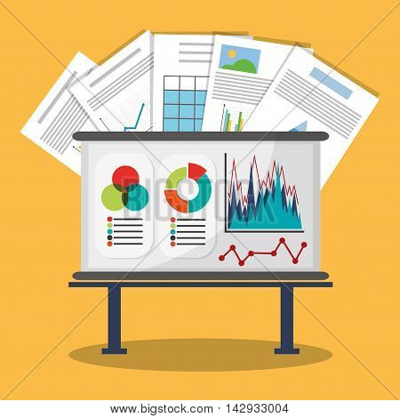 Spreadsheet board document infographic icon. Colorful design. Vector illustration