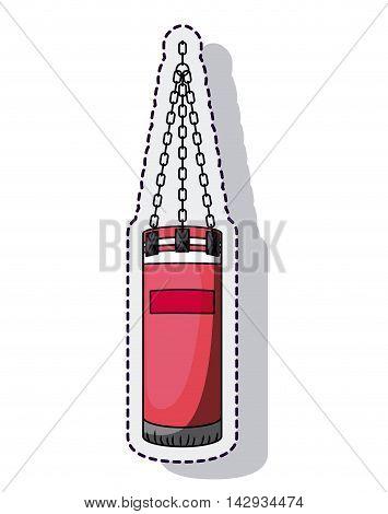 punching bag box equipment isolated icon vector illustration design