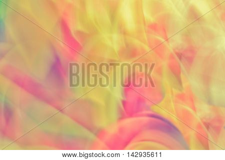 Colorful abstract light vivid color blurred background. Creative graphic design. Vintage tone effect.