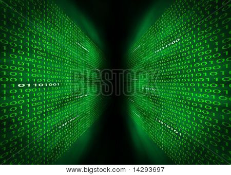 Two Walls Of Binary Code