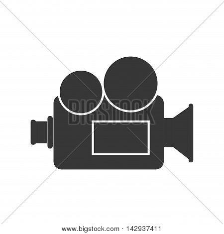 broadcast vintage camcorder cinema video retro film  vector illustration isolated